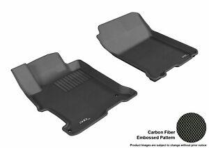 For 2013-2017 Honda Accord Kagu Black All Weather Front Floor Mat Set