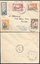 GOLD COAST LABADI POST OFFICE REGISTERED FIRST DAY COVER 1954