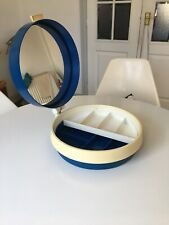 Vintage Retro Danish Plastic Termotex Vanity Case With Mirror 1960s