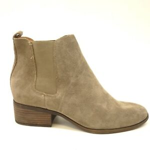 Lucky Brand Jeans Womens Low Distressed Brown Suede Ankle Booties US 7.5 EU 37.5