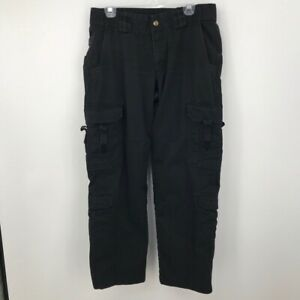 5.11 Tactical Womens Outdoor Hiking Pants Black Flap Pockets Flat Front 14