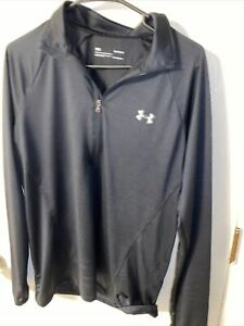 Under Armour Women's Size Large Tech 1/2 Zip Long-Sleeve Pullover, Black