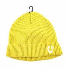 True Religion TR1704 Knit Beanie Yellow One Size
