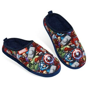 Avengers Mens Slippers with Iron Man & Captain America Shield