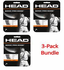 HEAD Sonic Pro Edge 16 gauge tennis racquet string set - 3 Packs - FREE SHIPPING