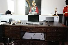 Executive Partners Desk - Hand Carved Antique - Jacobean Tudor Old English Table