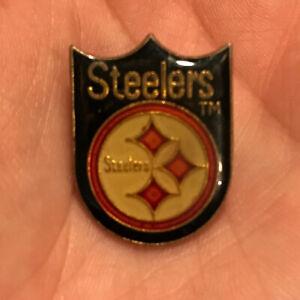 Vintage Pittsburgh Steelers Shield 1980s Logo Lapel Tie Hat Football Team Pin 👀