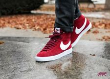 Nike Blazer Mid Suede Men's Trainers - UK 6 / EU 40 / US 7 - Team Red / White