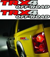 "2 - TRX4 OFFROAD TRUCK 4x4 DECALS STICKER DECAL DAKOTA SIZE: 2.5""x15"" 3M VINYL!!"