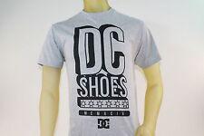 DC SHOES MEN'S GRAY GRAPHIC T-SHIRT BLACK LOGO GRAPHICS size X-Large / XL