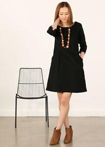 BNWT Karma East Danika Black Cord Dress, Size S or M. FREE POST!!!