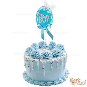 IT'S A BOY CAKE TOPPERS BABY SHOWER NEW BORN CAKE TOPPERS
