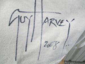 VINTAGE GUY HARVEY MARINE LIFE SIGNED BY GUY HARVEY LARGE WHITE T-SHIRT MIAMI