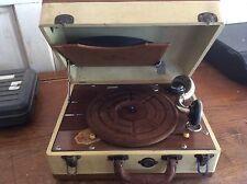 Vintage Antique Birch Portable Phonograph Model 500 Hand Crank Record Player