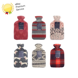 Pack of 2 assorted hot water bottles