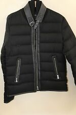 5a5671ec2c3 #400 The Kooples Leather Trim Flannel Down Jacket Size M RETAIL $725
