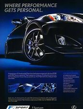 2008 Lexus IS250 IS350 F Sport -  Original Advertisement Print Art Car Ad J565