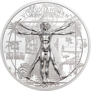 2021 Cook Islands $5 Vitruvian Man X-Ray 1 oz .999 Silver Coin - 999 Made