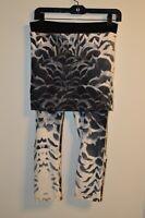 Lululemon Athletica 6/8 Yin Wunder Under Cropped Leggings Skirt Roll Down Print