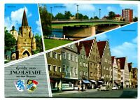 uralte AK Ingolstadt/Donau Kreuztor Donaubrücke Theresienstraße 1971 //35