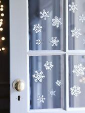 Christmas Window Sticker 20 Snowflake Glitter 1 Sheet Xmas Decorations