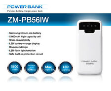 Zalman telefono iPhone iPad Galaxy 5600mAh Power Bank Batteria Ricaricabile + Luce