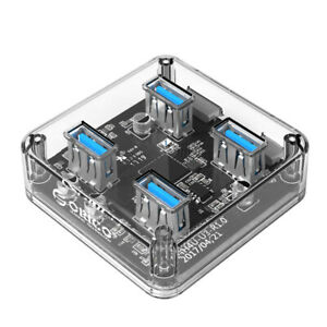 Orico MH4U 4 Ports USB3.0 Transparent Desktop HUB With High Quality Blue LED