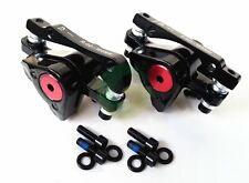 Bike MTB Mechanical Front & Rear Disc Brake Calipers + Pads Avid BB5 + Bolts Set