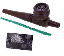 budawi® Holzpfeife Purpfeife - Holzmundstück 11 cm, mit Siebe Tabakpfeife