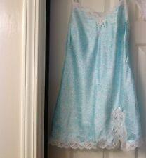 Victoria's Secret night gown,white w/light blue cheetah print/rhinestones,XS,EUC