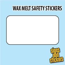 10000 wax melt stickers 40mm x 50mm (1 design)