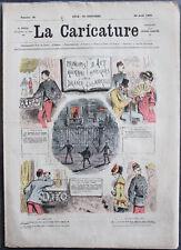 Albert ROBIDA Journal LA CARICATURE N°35 1880 Couv Couleurs Art Militaire DRANER