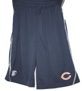 NEW Boys Kids Youth REEBOK Chicago Bears On Field NFL Logo Blue Polyester Shorts