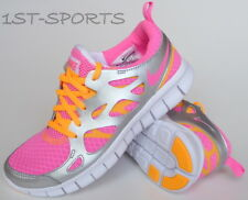 NIKE TRAINERS, GIRLS FREE RUN 2 477701 600 TRAINERS, SHOES, PINK, UK 4.5 to 5.5
