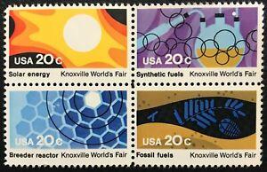 1982 Scott #2006-2009 - 20¢ - KNOXVILLE FAIR - Block of Four - Mint NH