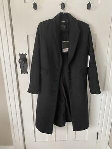 BNWT Decjuba Britney Crombie Coat Black Size 8 Rrp$179