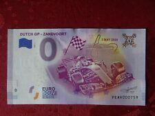 Billet Schein 0 Euro DUTCH GP - ZANDVOORT 2020-1 Pays-Bas Netherlands PEAV