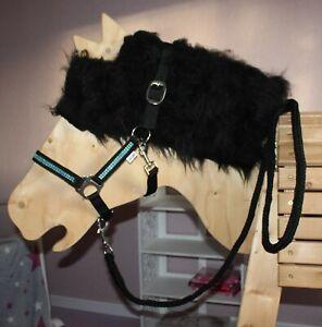 STRASS SHETTY Schmuckhalfter HALFTER FÜHRSTRICK Shetland Pony o HOLZPFERD