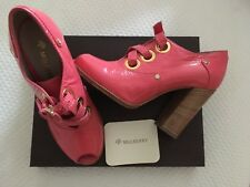 Bnwt Superbe Rose Cuir verni Mulberry Chaussures RRP £ 350 taille 5 Aso Gossip Girl