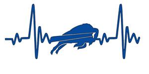 Buffalo Bills NFL Football Heartbeat Car/Laptop/Cup Sticker Decal