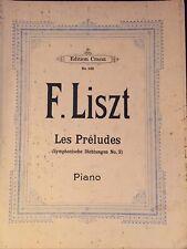 Liszt Préludes Piano partition
