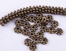 Wholesale 100/1000Pcs Tibetan Silver Daisy Spacer Beads Jewelry Making 4MM 6MM