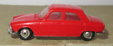 Old made in france 1966 micro norev oh 1/87 peugeot 204 red #532