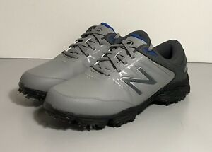 New Balance Striker Golf Shoes Grey Mens Size 8.5 2E Extra Wide Mint!
