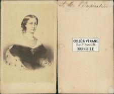 Impératrice Eugénie d'après dessin CDV vintage albumen, Tirage albuminé