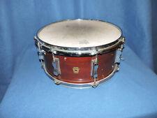 """Vintage 1965 Ludwig 8 Lug Keystone 14"""" x 6""""  Mahogany Wood Snare Drum"""