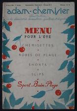 Men's Fashion Art Deco Magazine Adam-Chemisier 04/15/1939