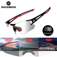 ROCKBROS Cycling Sports Sunglasses Photochromic Running Eyewear UV400 Glasses
