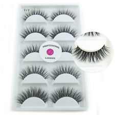 LASGOOS Real Mink 3D False Eyelashes Messy Natural Seberian Mink Fake Eyelashes