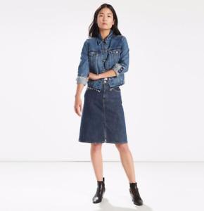 LEVI'S A-Line Midi Jean Skirt, Women, Authentic, BRAND NEW!